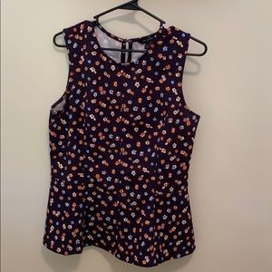 Floral cinched-waist top